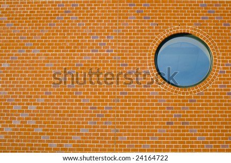 This is a Window in Brick Wall - stock photo