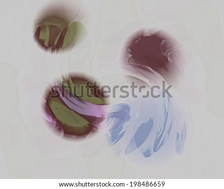 This is an abstract digital design composed of orbs with a little bit of gesture and movement, suitable for a background. - stock photo