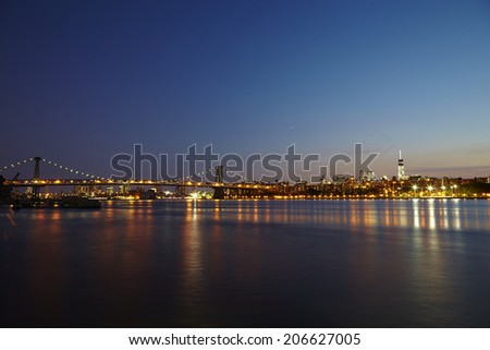 This is an aerial view of Port Washington, DC - USA : June 9, 2014 - stock photo