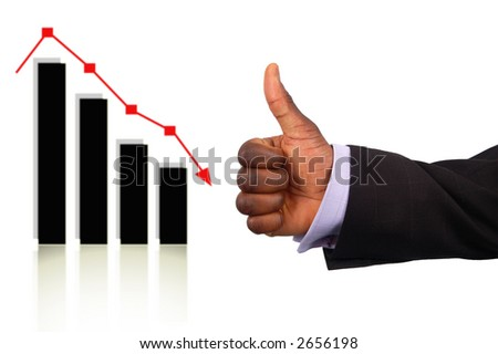 "This is an image of a business hand representing a ""Correct Prediction"".This is indicated by the ok gesture and the drop in the graph."