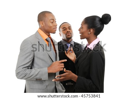 This is an image of a business team having a discussion.