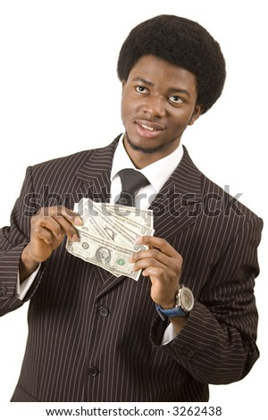 "This is an image of a businessman making plans with his money. This image can be used to reprsent ""Money Prospectus"""