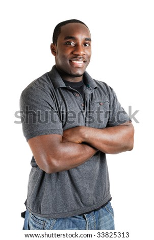 This is an image of student with arms crossed. - stock photo