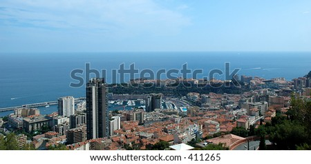 This is an overview shot of Monaco.