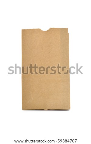 This is Brown Bag, a recycle material - stock photo