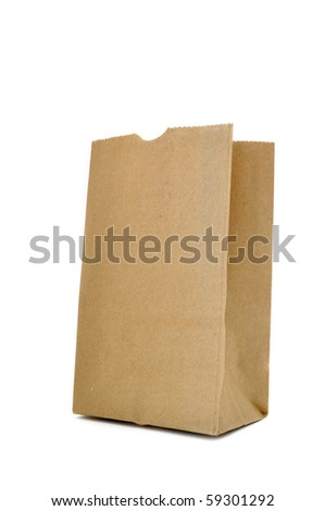 This is Brown Bag.It a recycle material - stock photo