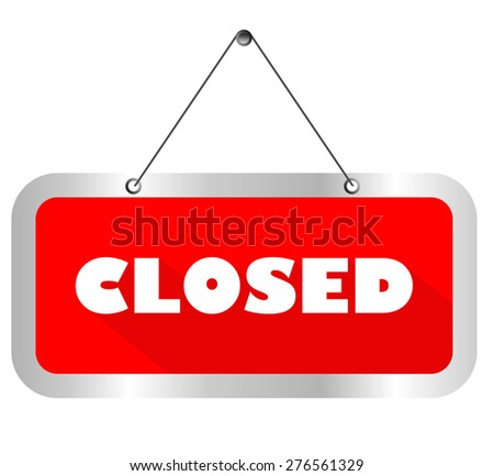 this is closed sign vector