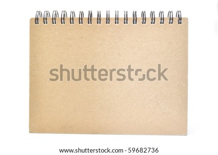 This is Cover of Notebook. taken in isolated shot - stock photo