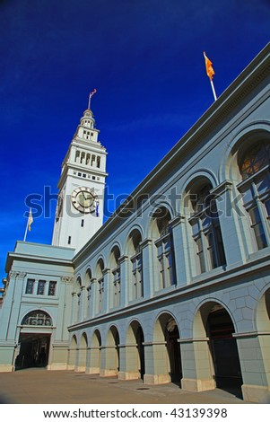 This is Ferry Building of San Francisco.