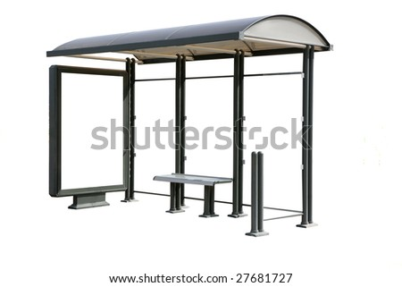 This is for advertisers to place ad copy samples on a bus shelter - stock photo