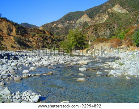 This is from the San Gabriel Mountains of California. - stock photo