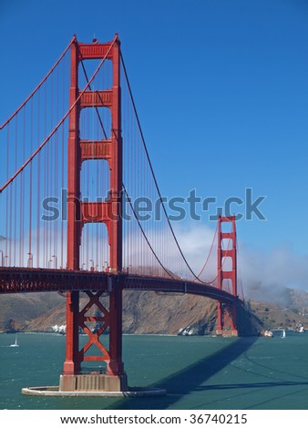 This is Golden Gate Bridge. - stock photo