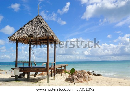 This is Munnork Island Resort at Rayong,Thailand - stock photo