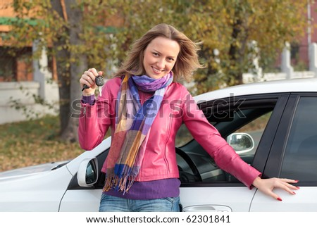 This is my new car! - stock photo