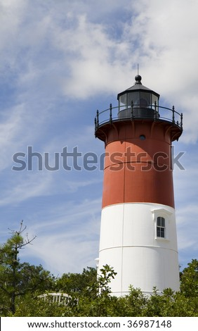 This is Nauset Light House EastHam, Massachusetts - stock photo