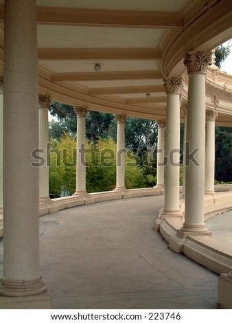 This is one of the walkways leading to the Spreckels Organ in Balboa Park, San Diego