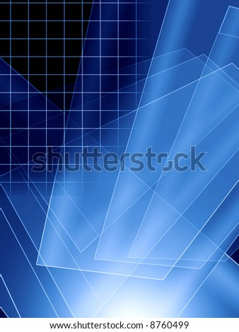 This is realistic blue background in techno style. Blue looks like from glass.