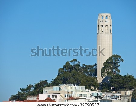 "This is the ""Coit Tower"" in San Francisco."