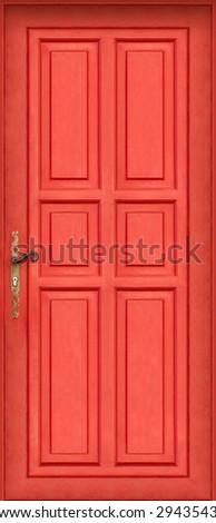 This is the entire door of my best seller shot : Magic red door - stock photo