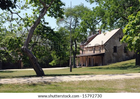 This is the General Store in Batsto village which was built in the early 1800's in New Jersey.  This is a landmark and a tourist destination.