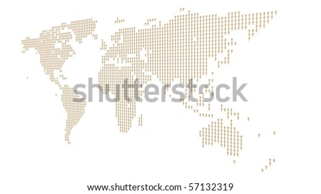 This is to illustrate the relationship between the christian and the world - stock photo