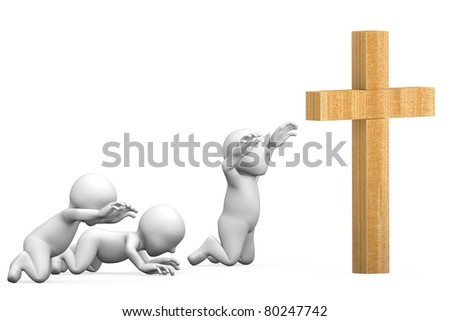 This is to illustrate the worship of Christian - stock photo