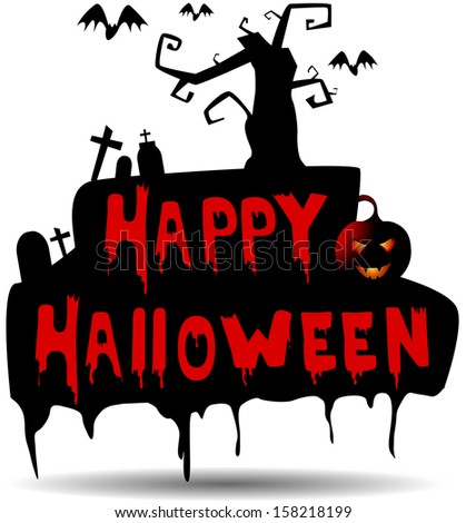 "This is vector illustration ""Halloween"""