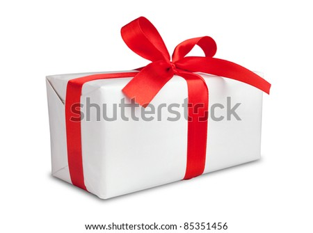This is White box and stripped background. - stock photo