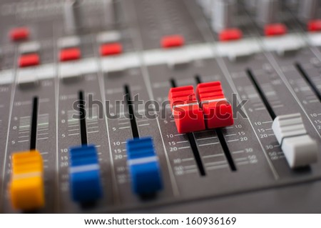 This mixer is used to mix the melodic music - stock photo