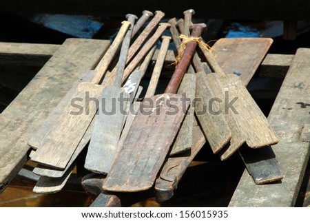 This Oar for aranmula boat race. - stock photo
