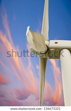This photo shows a wind turbine.