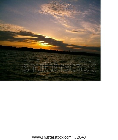 This photo was taken in corpus christi ,TX at sunset - stock photo