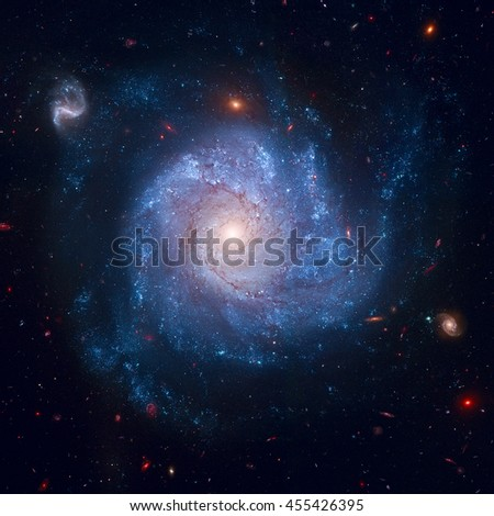 This striking spiral galaxy is home to a supernova, SN 2002fk. Astronomers are using that supernova to measure the expansion rate of the universe. Elements of this image furnished by NASA.