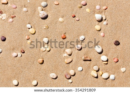This was photographed on Pebble beach, near Exmouth Western Australia - stock photo