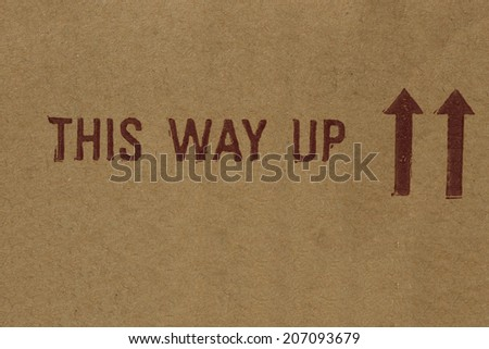 This Way Up - stock photo