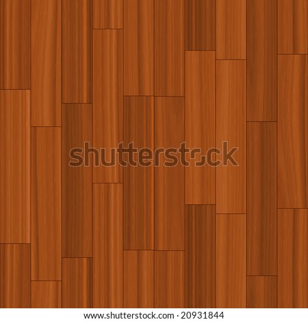 This wood floor pattern tiles seamlessly as a background. - stock photo