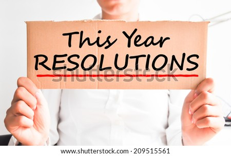 This year resolutions concept - stock photo
