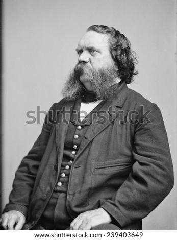 "Thomas B. Thorp (1815-1878) American newspaper publisher, writer, and painter. He wrote humorous ""tall tales"", the best know is, _The Big Bear of Arkansas\xEE 1841. Portrait ca.1860. - stock photo"