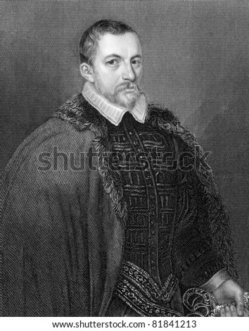 Thomas Bodley (1545-1613). Engraved by H.T.Ryall and published in Lodge's British Portraits encyclopedia, United Kingdom, 1820.