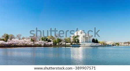 Thomas Jefferson Memorial building Washington, DC - stock photo