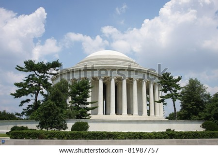 Thomas Jefferson Memorial in Washington D.C. - stock photo