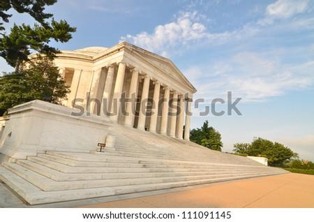 Thomas Jefferson Memorial in Washington DC United States - stock photo