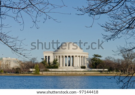 Thomas Jefferson Memorial in winter