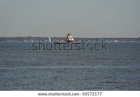 Thomas Point Shoal Lighthouse Chesapeake Bay Maryland