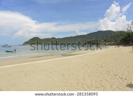 Thong Nai Pan beach on Koh Phangan Island,Thailand - stock photo
