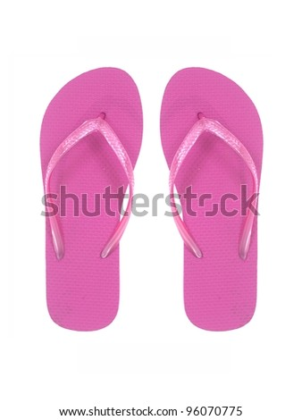 Thongs isolated against a white background - stock photo