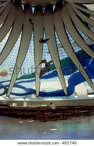 Thou art my Shepherd - Cathedral in Brasilia, Brazil - stock photo