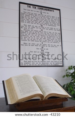 Thou Shalt - stock photo