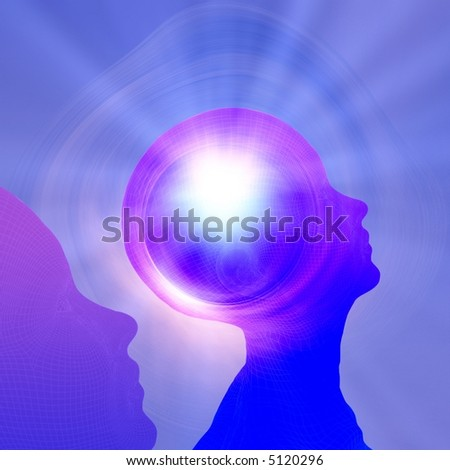 Thought Power - stock photo