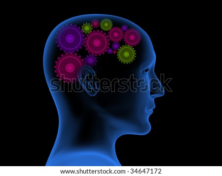 Thought process - stock photo
